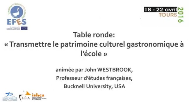 Round table - Transmitting gastronomic cultural heritage in school